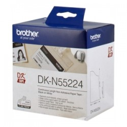 BROTHER CARTA BIANCO DK-N55224 DK-TAPE NASTRO, NON ADESIVO, 54MM X 30,48M BIANCO ORIGINALE