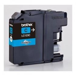 BROTHER CARTUCCIA D\'INCHIOSTRO CIANO LC123C LC-123 600 COPIE  ORIGINALE