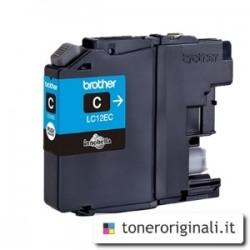 BROTHER CARTUCCIA D\'INCHIOSTRO CIANO LC12EC LC-12E 1200 COPIE  ORIGINALE