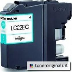 BROTHER CARTUCCIA D\'INCHIOSTRO CIANO LC22EC LC-22E 1200 COPIE 11.8ML  ORIGINALE