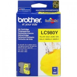 BROTHER CARTUCCIA D\'INCHIOSTRO GIALLO LC980Y LC-980 260 COPIE  ORIGINALE