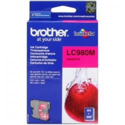 BROTHER CARTUCCIA D\'INCHIOSTRO MAGENTA LC980M LC-980 260 COPIE  ORIGINALE