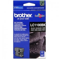 BROTHER CARTUCCIA D\'INCHIOSTRO NERO LC1100BK LC-1100 450 COPIE  ORIGINALE