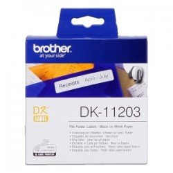BROTHER ETICHETTE  DK-11203  ETICHETTE PER RACCOGLITORE, 17/87 MM BIANCO 300 ET./ RUOLO ORIGINALE