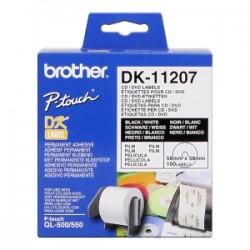 BROTHER ETICHETTE  DK-11207  CD/DVD ETICHETTE, 58 MM 100 PEZZI / RUOLO