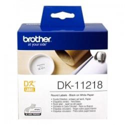 BROTHER ETICHETTE  DK-11218  ETICHETTA ROTONDA, 24 MM BIANCO 1000 ET./RUOLO ORIGINALE