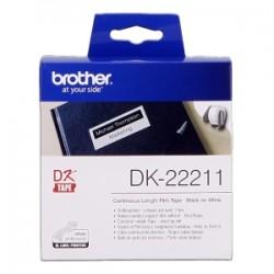 BROTHER ETICHETTE  DK-22211  ETICHETTA A LUNGHEZZA CONTINUA, 29MM X 15,24 M BIANCO ORIGINALE