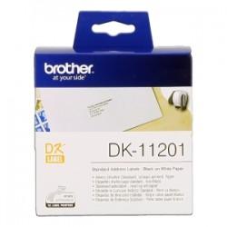 BROTHER ETICHETTE NERO SU BIANCO DK-11201  ETICHETTE IN CARTA PER INDIRIZZI, 29X90 MM BIANCO 400 ET./RUOLO ORIGINALE
