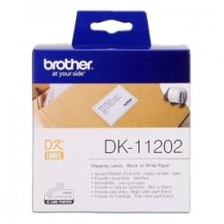 BROTHER ETICHETTE NERO SU BIANCO DK-11202  ETICHETTE DI SPEDIZIONE, 62X100MM BIANCO 300 ET./RUOLO ORIGINALE