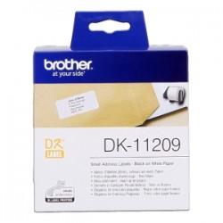BROTHER ETICHETTE NERO SU BIANCO DK-11209  ETICHETTE IN CARTA PER INDIRIZZI, 29X62 MM BIANCO 800 ET./RUOLO ORIGINALE