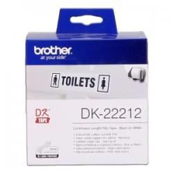 BROTHER ETICHETTE NERO SU BIANCO DK-22212  ETICHETTA A LUNGHEZZA CONTINUA, 62MM BIANCO 15,24M ORIGINALE