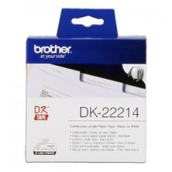 BROTHER ETICHETTE NERO SU BIANCO DK-22214  ETICHETTA A LUNGHEZZA CONTINUA, 12 MM BIANCO 30,48 M ORIGINALE