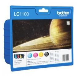 BROTHER MULTIPACK NERO / CIANO / MAGENTA / GIALLO LC-1100-BK/C/M/Y LC1100VALBPDR CONFEZIONE MULTI: BK/C/M/Y ORIGINALE