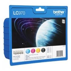 BROTHER MULTIPACK NERO / CIANO / MAGENTA / GIALLO LC-970 LC970VALBPDR CONFEZIONE MULTI: BK/C/M/Y ORIGINALE