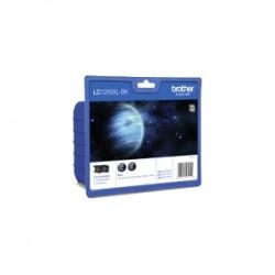 BROTHER MULTIPACK NERO LC-1280XL-BK LC1280XLBKBP2DR 2 CARTUCCE D\'INCHIOSTRO LC-1280XLBK ORIGINALE