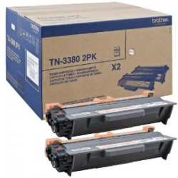 BROTHER MULTIPACK NERO TN-3380TWIN  DOUBLE PACK 8.000 PAGINE CAD. ORIGINALE