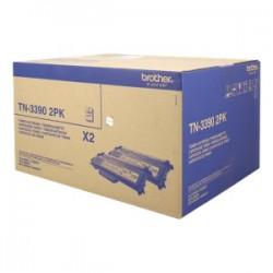BROTHER MULTIPACK NERO TN-3390TWIN  2 TONER TN-3390 12.000 PAGINE CAD. ORIGINALE