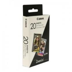 CANON CARTA BIANCO ZP-2030 20 BLATT 3214C002 CANON CARTA FOTOGRAFICA ZINCATA PER ZOEMINI, 5 X 7,6 CM, 20 FOGLI, RETRO LU