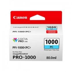 CANON CARTUCCIA D\'INCHIOSTRO CIANO (FOTO)  PFI-1000PC 0550C001 80ML  ORIGINALE