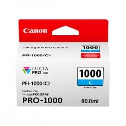 CANON CARTUCCIA D\'INCHIOSTRO CIANO PFI-1000C 0547C001 80ML  ORIGINALE