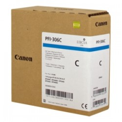 CANON CARTUCCIA D\'INCHIOSTRO CIANO PFI-306C 6658B001 330ML  ORIGINALE