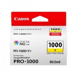 CANON CARTUCCIA D\'INCHIOSTRO GIALLO PFI-1000Y 0549C001 80ML  ORIGINALE