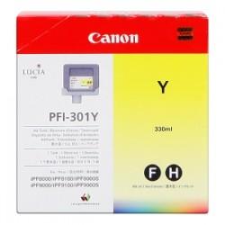 CANON CARTUCCIA D\'INCHIOSTRO GIALLO PFI-301Y 1489B001 330ML  ORIGINALE