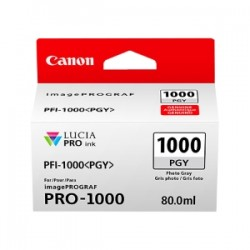CANON CARTUCCIA D\'INCHIOSTRO GRIGIO (FOTO) PFI-1000PGY 0553C001 80ML  ORIGINALE
