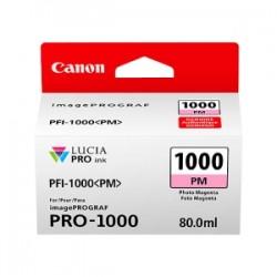 CANON CARTUCCIA D\'INCHIOSTRO MAGENTA (FOTO) PFI-1000PM 0551C001 80ML  ORIGINALE