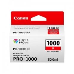CANON CARTUCCIA D\'INCHIOSTRO ROSSO PFI-1000R 0554C001 80ML  ORIGINALE