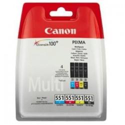 CANON MULTIPACK NERO / CIANO / MAGENTA / GIALLO CLI-551 CMYBK MULTI 6509B009 CONFEZIONE MULTI: BK/C/M/Y ORIGINALE
