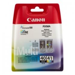 CANON MULTIPACK NERO / DIFFERENTI COLORI PG-40 + CL-41 0615B043 PG-40 + CL-41 ORIGINALE