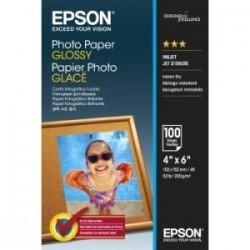 EPSON CARTA BIANCO C13S042548 PHOTO PAPER GLOSSY CARTA DA FOTO, 10 X 15 CM, 200G/M², 100 FOGLI, PATINATA ORIGINALE