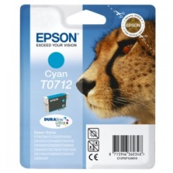 EPSON CARTUCCIA D\'INCHIOSTRO CIANO C13T07124012 T0712 345 COPIE 5.5ML  ORIGINALE