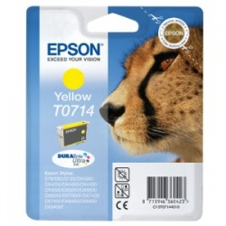 EPSON CARTUCCIA D\'INCHIOSTRO GIALLO C13T07144012 T0714 415 COPIE 5.5ML  ORIGINALE