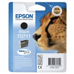 EPSON CARTUCCIA D\'INCHIOSTRO NERO C13T07114012 T0711 245 COPIE 7.4ML  ORIGINALE
