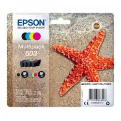 EPSON MULTIPACK NERO / CIANO / MAGENTA / GIALLO C13T03U64010 603 ORIGINALE
