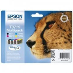 EPSON MULTIPACK NERO / CIANO / MAGENTA / GIALLO C13T07154012 T0715 4 CARTUCCE: T0711 + T0712 + T0713 + T0714 ORIGINALE