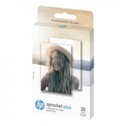 HP CARTA BIANCO 2LY72A ZINK PHOTO PAPER SNAPSHOTS CARTA FOTOGRAFICA HP PER SPROCKET PLUS, 5,8 X 8,7 CM, 258 G/M², 20 FOG