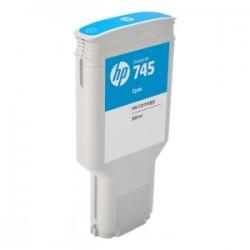 HP CARTUCCIA D\'INCHIOSTRO CIANO F9K03A 745 300ML  ORIGINALE