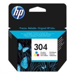 HP CARTUCCIA D\'INCHIOSTRO DIFFERENTI COLORI N9K05AE 304 100 COPIE  ORIGINALE