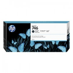 HP CARTUCCIA D\'INCHIOSTRO NERO (OPACO) P2V83A 746 300ML  ORIGINALE
