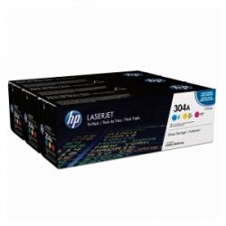HP MULTIPACK CIANO / MAGENTA / GIALLO CF372AM 304A CC531A + CC532A + CC533A ORIGINALE
