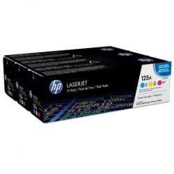 HP MULTIPACK CIANO / MAGENTA / GIALLO CF373AM 125A CB541A + CB542A + CB543A ORIGINALE