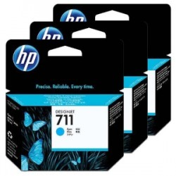 HP MULTIPACK CIANO CZ134A 711 3-PACK 29 ML ORIGINALE