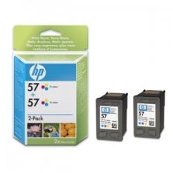 HP MULTIPACK DIFFERENTI COLORI C9503AE 57 2X C6657AE (HP 57)