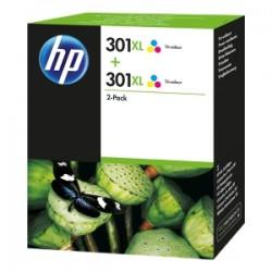 HP MULTIPACK DIFFERENTI COLORI D8J46AE 301 XL 2 X HP 301 XL COLORE ORIGINALE