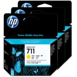 HP MULTIPACK GIALLO CZ136A 711 3-PACK 29 ML ORIGINALE