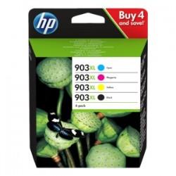 HP MULTIPACK NERO / CIANO / MAGENTA / GIALLO 3HZ51AE 903 XL  ORIGINALE