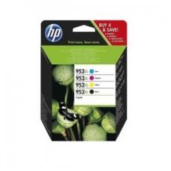 HP MULTIPACK NERO / CIANO / MAGENTA / GIALLO 3HZ52AE 953 XL  ORIGINALE